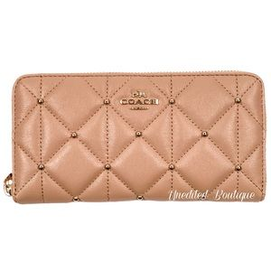 COACH Accordion Zip Wallet With Quilting Rivets
